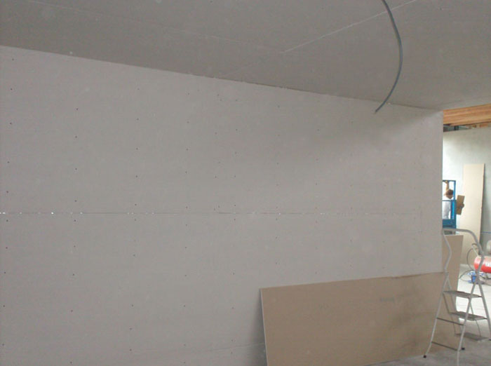 Gipsplaatwerken - Plaatsing van wand en plafond in gipsplaat ...